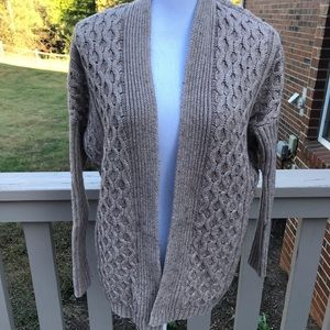 Ann Taylor Open Front Cable Knit Cardigan size XS